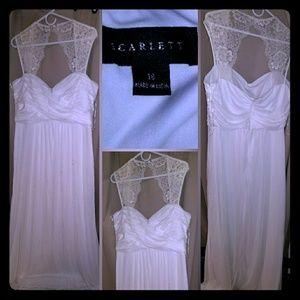 White ivory long dress